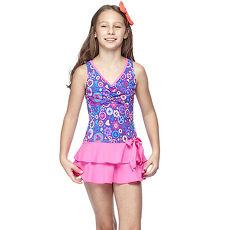 【SARBIS】MIT中童連身裙泳裝附泳帽B88420