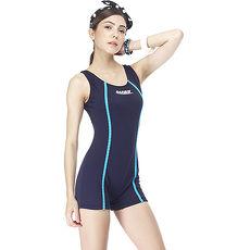 【SARBIS】MIT泡湯SPA大女連身四角泳裝附泳帽B95428