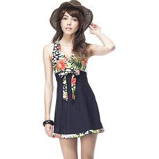 【SARBIS】MIT大女連身裙泳裝附泳帽B98237