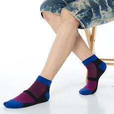 【KEROPPA】可諾帕細針毛巾底氣墊束底男短襪x4雙C91002寶藍配紫紅
