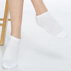 【KEROPPA】可諾帕細針毛巾底氣墊超短襪x4雙(男女適用)C91005白