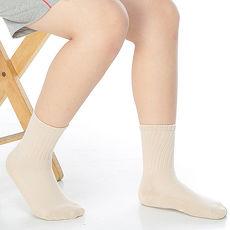 【KEROPPA】7~12歲學童專用毛巾底止滑短襪x3雙(男女適用)C93001卡其