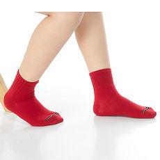 【KEROPPA】7~12歲學童專用吸濕排汗短襪x3雙C93007-B紅色