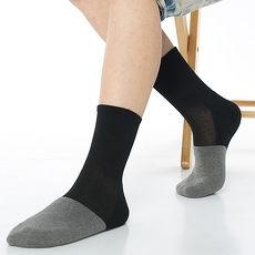 【KEROPPA】可諾帕寬口竹碳運動襪x3雙(男女適用)C98003黑配灰色