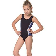 SARBIS泡湯 SPA女童連身三角泳裝附泳帽B2107
