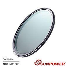 SUNPOWER TOP1 SMRC ND4~ND400 67mm 可調減光鏡(公司貨)