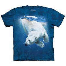 【摩達客】(預購)美國進口The Mountain 潛水北極熊 純棉環保短袖T恤青少年Y-L