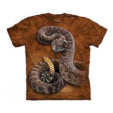 【摩達客】(預購)美國進口The Mountain 響尾蛇 純棉環保短袖T恤成人Adult-2XL