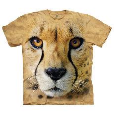 【摩達客】(預購)美國進口The Mountain Smithsonian系列 獵豹特寫 純棉環保短袖T恤成人Adult-2XL