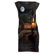 【摩達客】(預購)美國進口The Mountain 魔法貓時刻 休閒短洋裝連身裙迷你短裙成人Adult-L