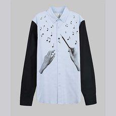 【摩達客】韓國進口EXO合作設計品牌DBSW Maestro 大音樂家 時尚純棉男士修身長袖襯衫
