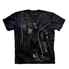 【摩達客】(預購)美國進口The Mountain 變身搖滾骷髏 純棉環保短袖T恤