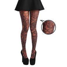 【摩達客】英國進口義大利製Pamela Mann橘色蕾絲荷葉邊花紋彈性褲襪