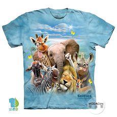 【摩達客】(預購)(大尺碼3XL)美國進口The Mountain 非洲草原動物哦耶 純棉環保短袖T恤