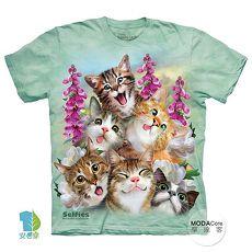 【摩達客】(預購)(男童/女童裝)美國進口The Mountain 貓咪哦耶 純棉環保短袖T恤