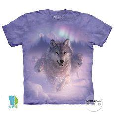 【摩達客】(預購)(大尺碼3XL)美國進口The Mountain 歐若拉之狼 純棉環保短袖T恤