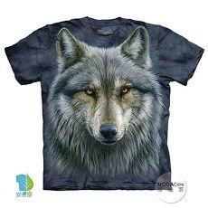 【摩達客】(預購)(大尺碼3XL)美國進口The Mountain 勇戰之狼 純棉環保短袖T恤
