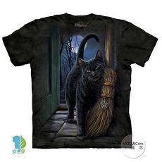 【摩達客】(預購)(大尺碼3XL)美國進口The Mountain 魔法掃把貓 純棉環保短袖T恤