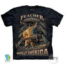 【摩達客】(預購)美國進口The Mountain 美國男教師 純棉環保短袖T恤-外出
