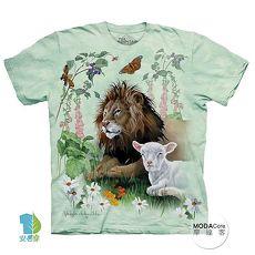 【摩達客】(預購)美國進口The Mountain 獅子與羊 純棉環保短袖T恤(男/女童)