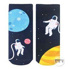 【摩達客】美國進口Living Royal 太空人漫遊 短襪腳踝襪彈性襪圖案襪