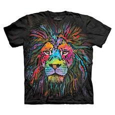 【摩達客】美國進口The Mountain 彩繪獅子  純棉環保短袖T恤(預購)