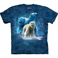 【摩達客】美國進口The Mountain 北極熊群藍色設計  純棉環保短袖T恤(預購)