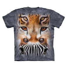 【摩達客】美國進口The Mountain 動物之眼  純棉環保短袖T恤(預購)