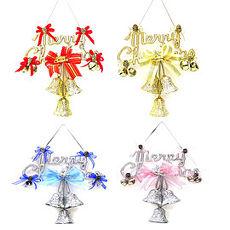 【摩達客】(預購3~5天出貨)8吋聖誕快樂英文字牌花鐘吊飾(單入)