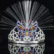 【摩達客】(預購3~5天出貨)閃亮光纖蝴蝶公主皇冠+手杖組