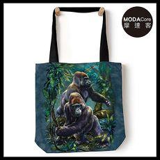 【摩達客】(預購) 美國The Mountain 叢林大猩猩 藝術環保托特包