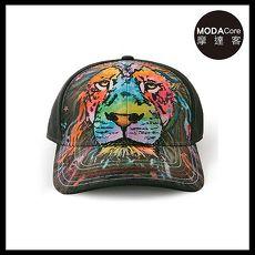 【摩達客】(預購)美國進口The Mountain 紐約藝術家DR系列彩繪獅子棒球帽/6-Panel六分割帽
