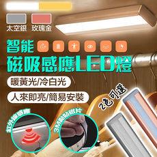 【新一代】智慧磁吸LED居家生活感應燈/衣櫥燈粉色黃光