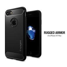 Spigen iPhone 8 7 Rugged Armor-彈性防震保護殼 黑