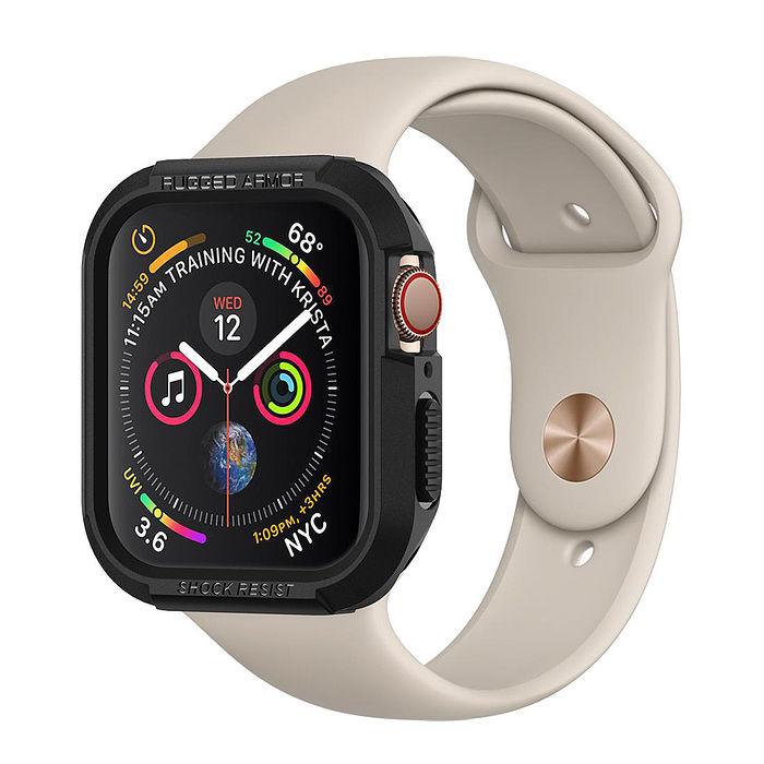 (加價購)SGP / Spigen Apple Watch 系列 Series 6/5/4/SE (44mm/40mm) 防摔保護殼黑色 40mm