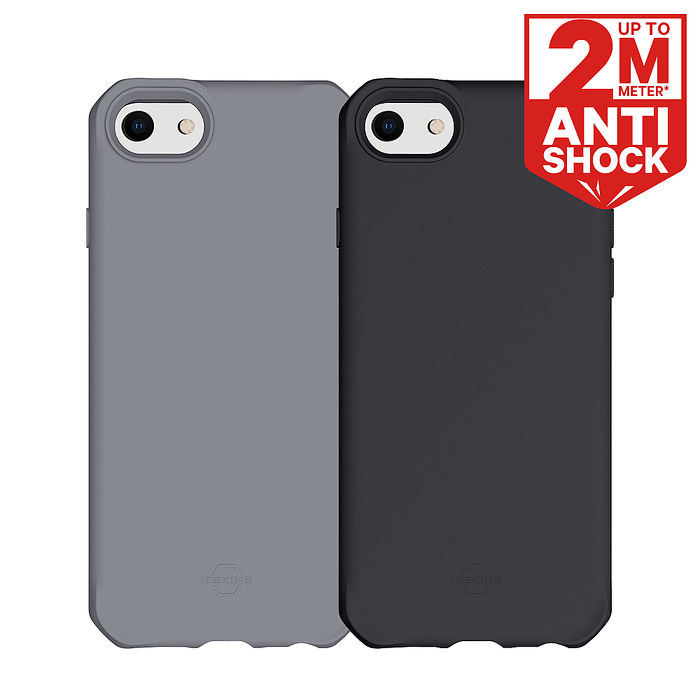 ITSKINS iPhone SE 2020/8/7/6 SPECTRUM SOLID-防摔保護殼黑