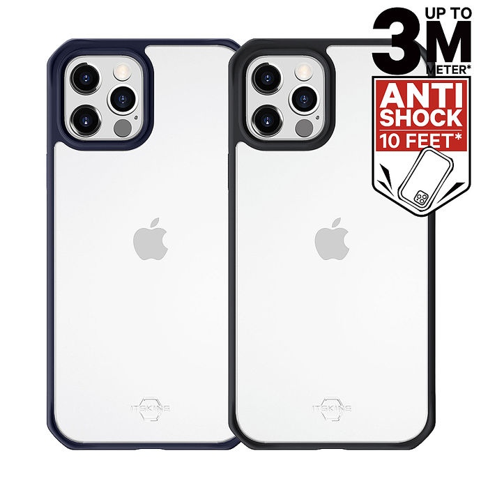 ITSKINS iPhone 12/mini/Pro/Pro Max HYBRID SOLID-防摔保護殼12/12 Pro 黑