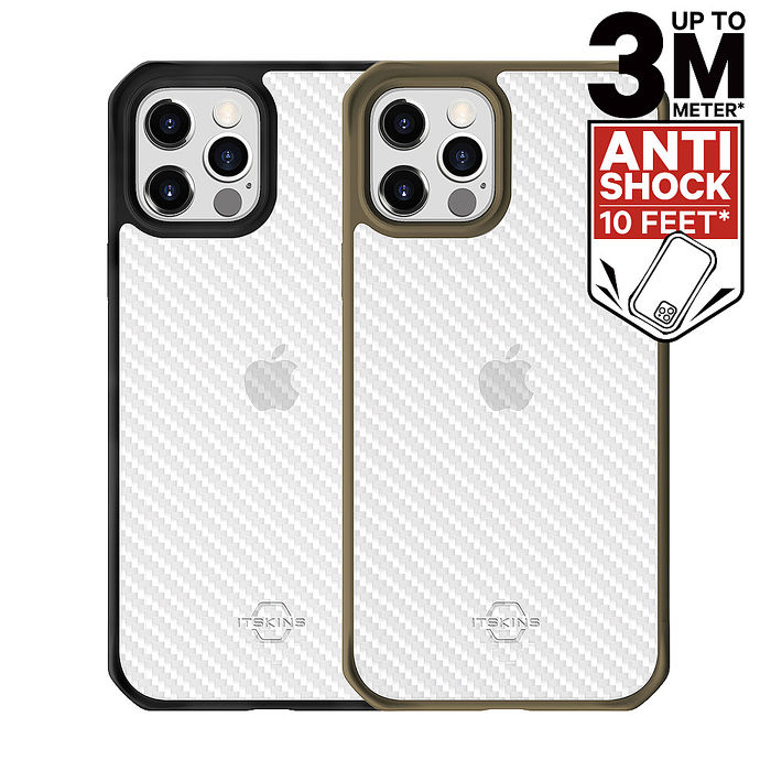 ITSKINS iPhone 12/mini/Pro/Pro Max HYBRID TEK-防摔保護殼12 Pro Max 墨綠