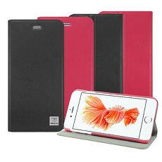 【Metal-Slim】Apple iPhone 6s/6 4.7 時尚超薄PC內殼磁吸站立皮套紅
