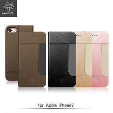 Metal-Slim APPLE iPhone 7 高仿小羊皮前卡套皮套璀璨金
