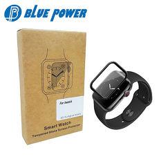 BLUE POWER APPLE WATCH 38mm 40mm 42mm 44mm 3D滿版 9H鋼化玻璃保護貼