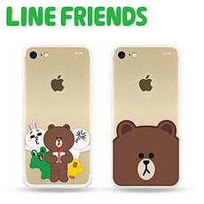 LINE FRIENDS iPhone 7透明霧面硬式保護殼禮物(LN-I7-1)