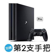SONY PS4 Pro主機CUH-7117系列1TB+第二手把-黑ZCT2G[第二手把組]