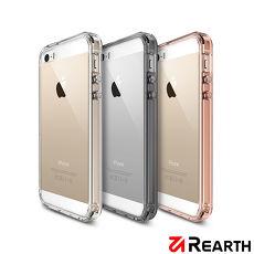 Rearth Apple iPhone 5s/SE (Ringke Fusion) 高質感保護殼(贈送保護貼)透黑