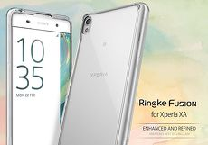 Rearth Sony Xperia XA (Ringke Fusion)高質感保護殼透黑