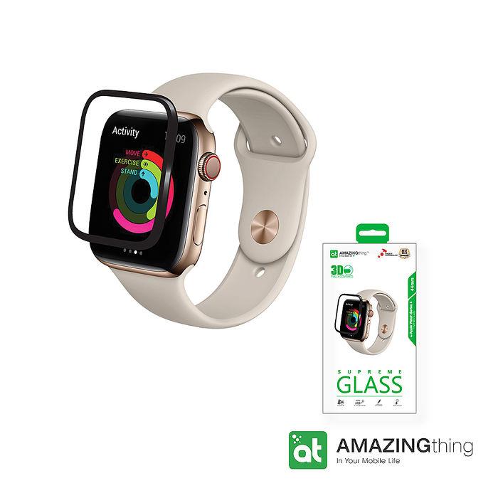 AMAZINGthing Apple Watch S4 44mm 滿版強化玻璃保護貼
