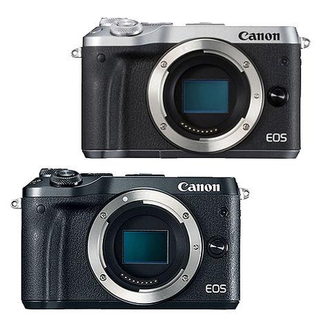 Canon EOS M6 單機身(公司貨)-送快門線+吹球清潔組+拭鏡筆+減壓背帶+相機包黑