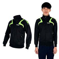 【KAPPA】男針織外套-立領 休閒外套 黑綠白M