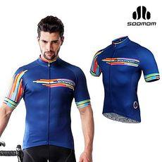 【SOOMOM】速盟 男哈維短車衣-單車 自行車 深藍