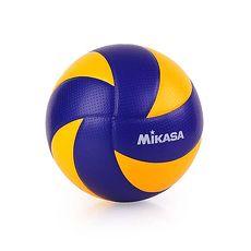 【MIKASA】超纖皮製練習型排球MVA300 - 5號球 FIVB指定球 藍黃